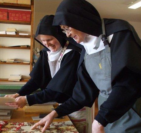 Travail des moniales - Abbaye Notre-Dame du Pesquié à Foix - Manual work