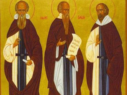 Where do these monks crossing the Gaul of the 6th-7th centuries come from ?