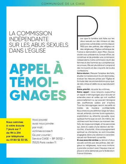 Commission Indépendante sur les Abus Sexuels dans l'Eglise (CIASE)