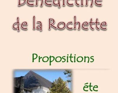 Chez les bénédictines de La Rochette – propositions été 2019