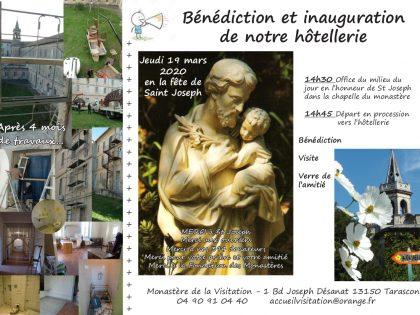 Jeudi 19 mars 2020, bénédiction du nouveau lieu d'accueil Sainte Marie
